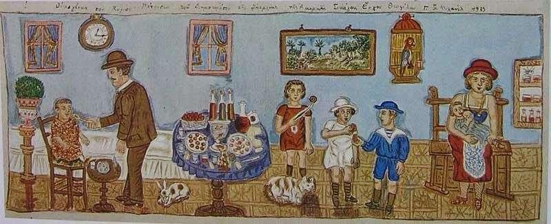 Το Πάσχα στη ζωγραφική του Θεόφιλου Χατζημιχαήλ | Cat Is Art