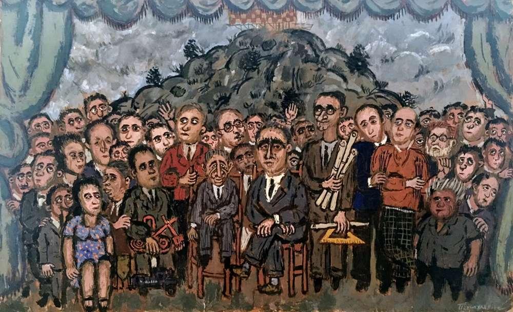 Ο μεγάλος περίπατος του Πέτρου Ζουμπουλάκη στο Μοντ Παρνές με «Πρόσωπα στο βάθος του χρόνου»