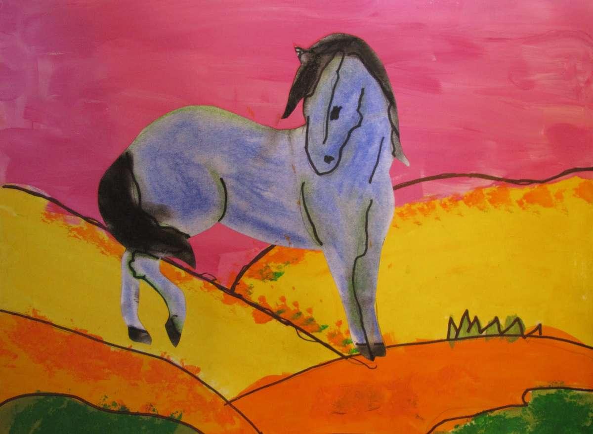 Μάρκος Μέσκος, Το άλογο