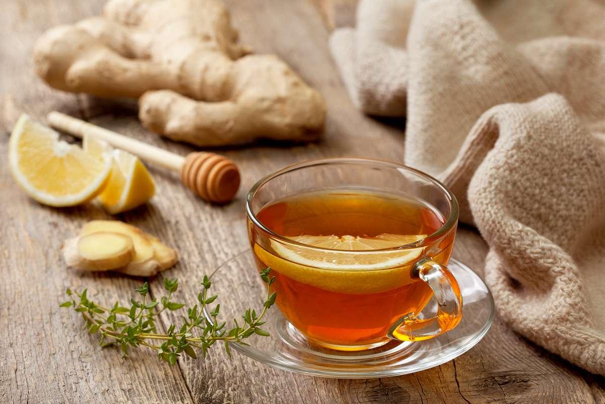 Τσάι του βουνού με μέλι, λεμόνι και τζίντζερ