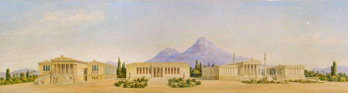 Η αθηναϊκή τριλογία – Εθνική Βιβλιοθήκη, Πανεπιστήμιο Αθηνών και Ακαδημία