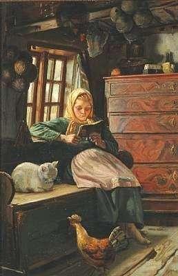 Διάβασμα με τη συντροφιά της γάτας