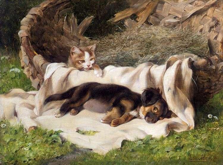 Αλέξανδρος Πάλλης, «Γάτα και Σκύλος»