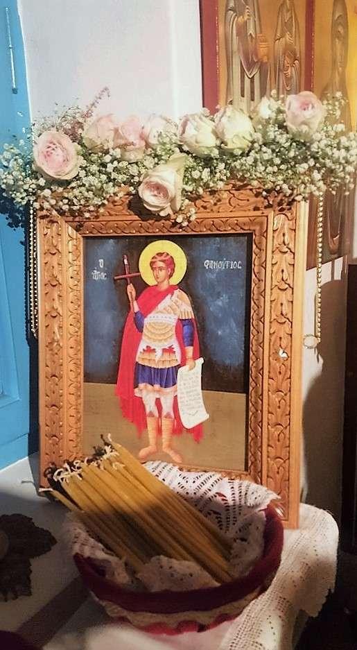 Εικόνα του Αγίου Φανουρίου από την Αμοργό. Φωτογραφία της φίλης Ελένης Κουντουρουπή