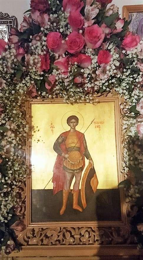 Εικόνα του Αγίου στην Αμοργό. Φωτογραφία: Ελένη Κουντουρουπή